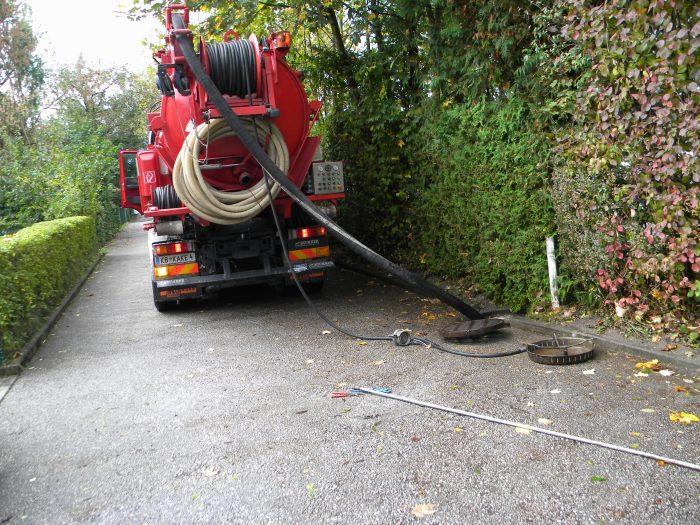 Saugarbeiten durch Installateur-Notdienst Permetinger in Salzburg und Tirol